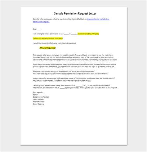 permission request letter format   samples