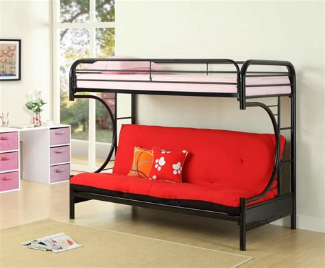 double bunk sofa bed twin over futon bunk bed with mattress included twin