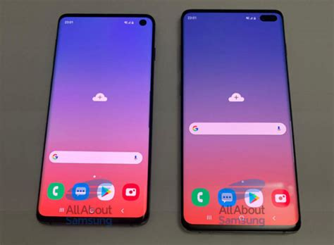 leaked show samsung galaxy s10 s10 punch displays iphone in canada