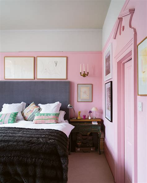 bedroom with pink walls painting walls pink make sure you do this one thing 14476 | 1 pastel pink pink walls and wood panelling in bedroom