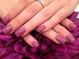 Eye Candy Nails & Training - Pink glitter polish over ...