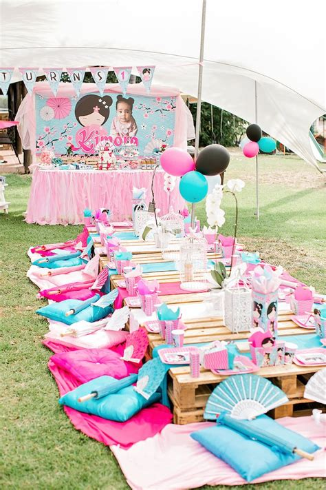 karas party ideas japanese garden picnic party karas