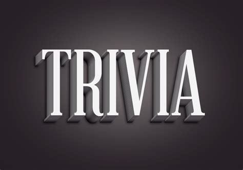 trivia text effect graphicburger