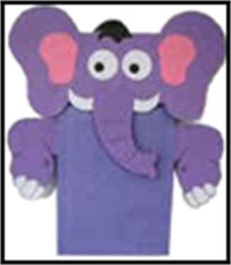 elephant paper bag puppet elephant crafts for easy to make 4397