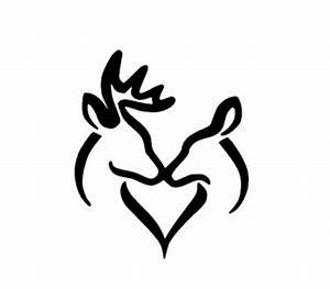 DEER LOVE Hunting Words Lettering Wall Decal Art Sticker