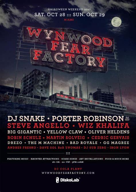 dj snake halloween wynwood fear factory miami halloween weekend announces