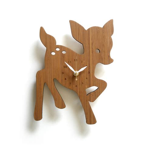wooden clock ideas  animal themed home design
