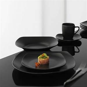 Teller Set Schwarz : geschirr bistro square black 60 teiliges geschirrset bistro sq black schwarz geschirr ~ Whattoseeinmadrid.com Haus und Dekorationen