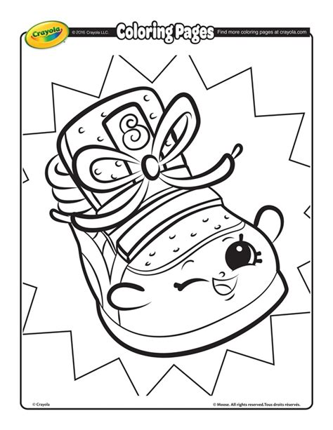 shopkins sneaky wedge coloring page crayolacom