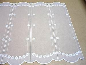 Brise Bise Au Metre : rideau brise bise brod sur sabl blanc ~ Dailycaller-alerts.com Idées de Décoration