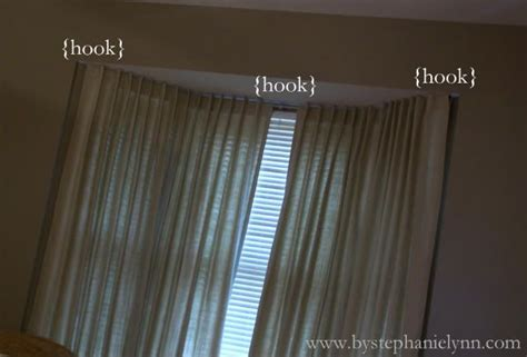 make your own bay window curtain rod window treatments