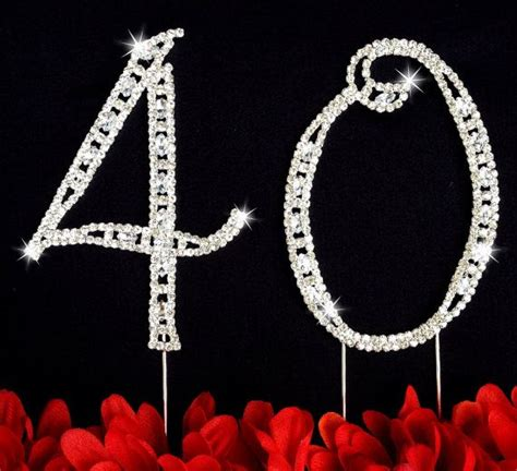 large rhinestone covered 40 40th 115 best images about 40th anniversary on 40th
