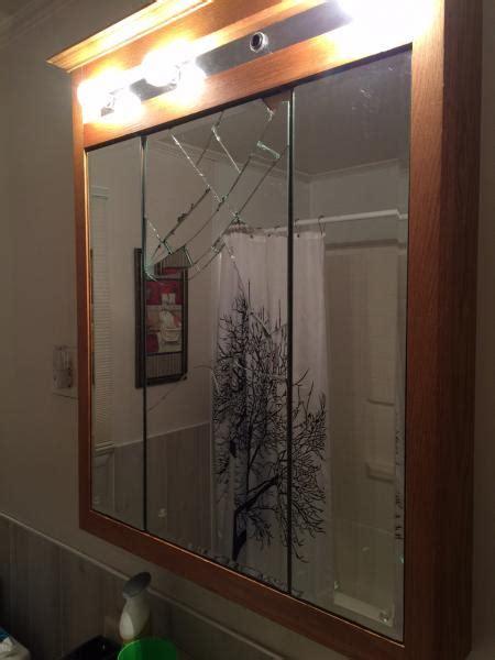 Broken Bathroom Mirror Shefalitayal