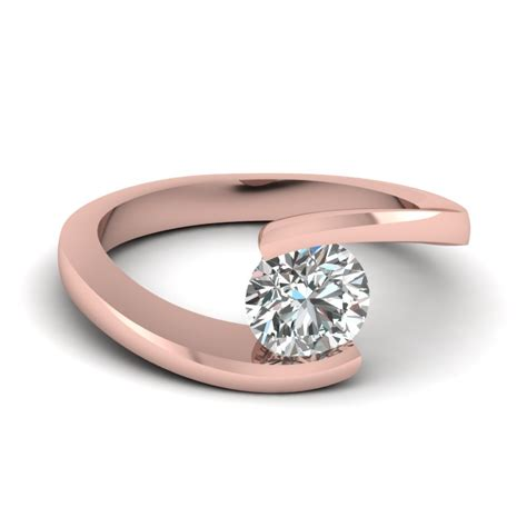 Permalink to Rose Gold Round Cut Engagement Rings