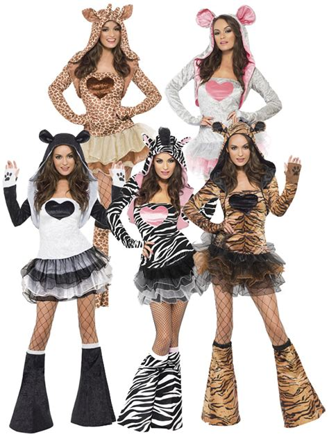 Ladies Fever Sexy Animal Fancy Dress Costumes Womens Hen Party Outfit Jungle Zoo | eBay