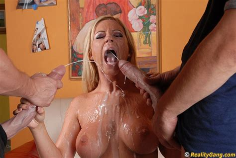 Hot Milf Fucks Two Giant Cocks And Gets Completely Glazed