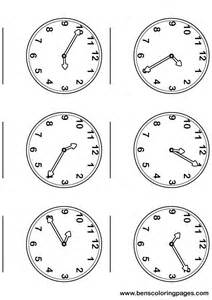 Time Clock Activity Coloring Pages