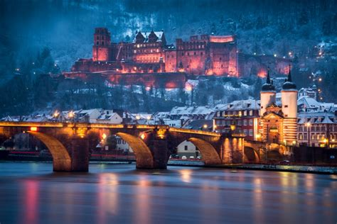 Heidelberg Castle and Old Brige in Winter - Andreas