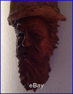 wood tree carved figurine sculpture wooden wizard gnome