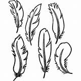 Feather Feathers Outline Coloring Printable Template Six Leather Templates Pages Bird Patterns Pattern Surfnetkids Tooling Stencil Turkey Drawing Birds Printables sketch template