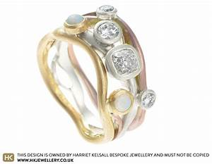 jan39s dramatic bespoke combined engagement and wedding ring With combined wedding and engagement rings