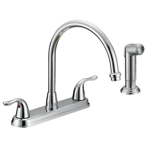 homedepot kitchen faucets ez flo impression collection 2 handle standard kitchen