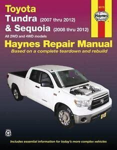best auto repair manual 2012 toyota sequoia free book repair manuals haynes toyota tundra 2007 2012 sequoia 2008 2012 repair manual 1620920425 ebay