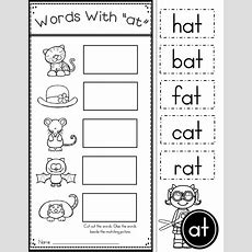 Free Word Family At Practice Printables And Activities  Daycare  Kindergarten Reading, Family