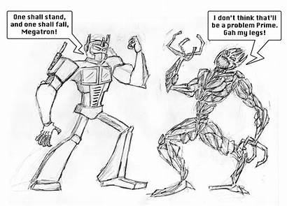 Transformers Draw Easy Drawings Prime Sketched Drawing