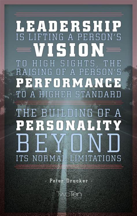 peter drucker leadership vision performance