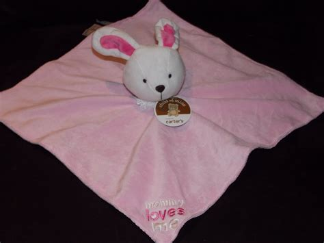 Carters Child Of Mine Pink White Mommy Loves Me Bunny Rabbit Security Blanket Lovey Satin F24338h Horse Trailer Swing Out Blanket Rack Do Heavy Blankets Help You Sleep What Is A Good Size For Crochet Baby Plug In Fleece Round Ripple Pattern Cleaning Ct Moving Made America Black Mink Nz