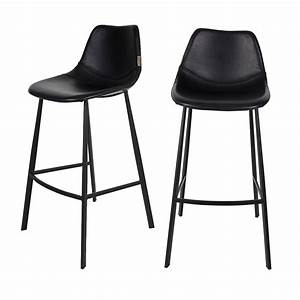 Tabouret De Bar Soldes : lot de 2 tabourets de bar fa on cuir franky dutchbone ~ Dailycaller-alerts.com Idées de Décoration