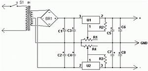 Dual Polarity Power Supply Circuit Diagram