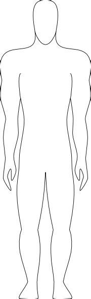 human figure outline clip art  clkercom vector clip