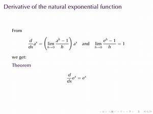 Lesson 16: Derivatives of Logarithmic and Exponential ...