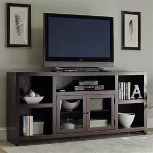 Table Tv Design : shop scott living dark cappuccino tv cabinet at ~ Teatrodelosmanantiales.com Idées de Décoration