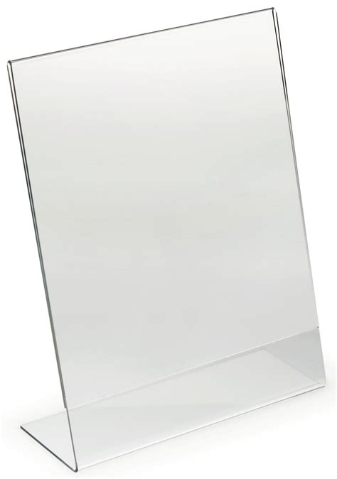 8 5 x 11 acrylic sign holder for table tops 8 5 quot x 11 quot acrylic display frame sign holder w polished