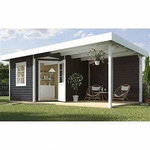 Holz Farbe Anthrazit : weka holz gartenhaus san remo a anthr wei bxt 541 x 238 cm davon 303 cm terr in 2019 ~ Orissabook.com Haus und Dekorationen
