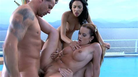 Horny Captains Of Big Ship Fuck Two Sexy Brunette Bitches
