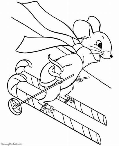 Christmas Coloring Pages Mouse Printable Animals Animal