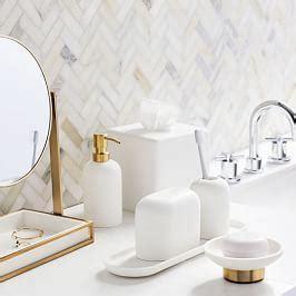 modern resin stone bath accessories west elm canada