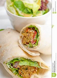 Falafel Pita Bread Roll Wrap Sandwich Stock Image Image