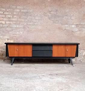 Meuble Tv Vintage Scandinave : meuble tv scandinave en teck 4 portes 2 tiroirs gentlemen designers ~ Teatrodelosmanantiales.com Idées de Décoration