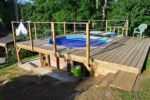 terrasse piscine sur pilotis bois de jardin With terrasse sur pilotis en bois