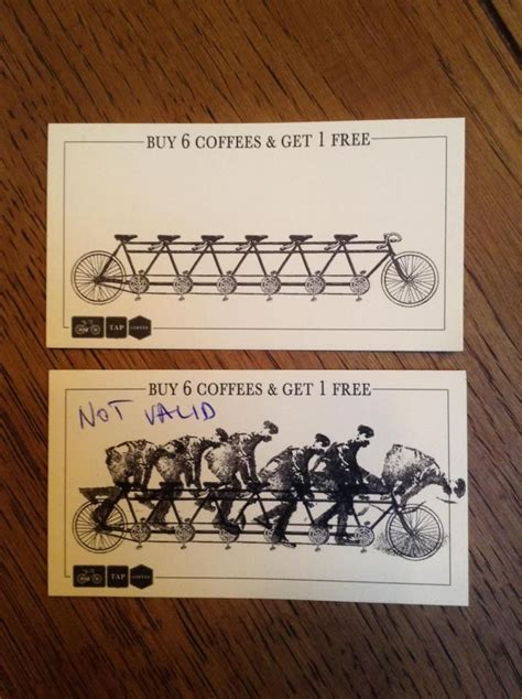 buy  coffee    bike rider stamp tap coffee