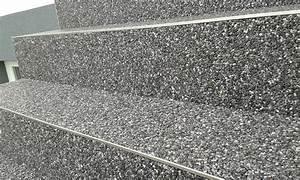 Edelstahlschienen Für Fliesen : steinteppich dunkelgrau edelstahlschienen steinteppich ~ Michelbontemps.com Haus und Dekorationen