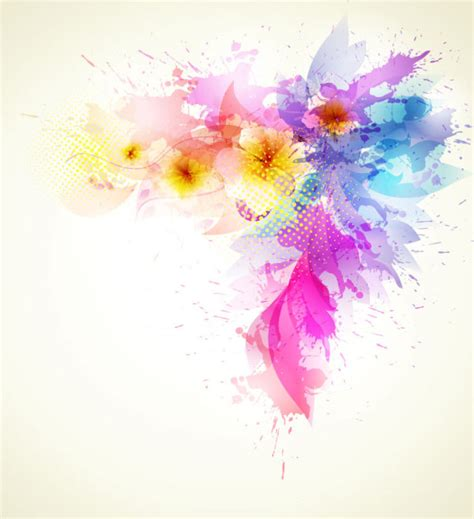 flower girl wedding splash color flower backgrounds vector 02 vector