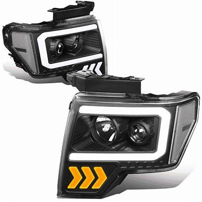 F150 Headlight 2009 Led Clear Ford Projector