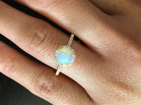 14k Yellow Gold Diamond Halo Round Fire Opal   Preciously. Halo Setting Wedding Rings. Wood Koa Wedding Rings. Silver Cluster Wedding Rings. Elemental Rings. 15k Wedding Rings. Vintage Small Wedding Engagement Rings. Succulent Wedding Rings. Ancient Rings