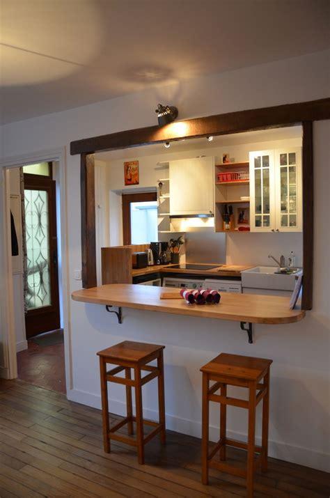 cuisine avec comptoir bar cuisine ouverte sur salon avec bar kirafes